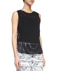 Twelfth Street by Cynthia Vincent Sleeveless Sheer Silk Blouse - Lyst