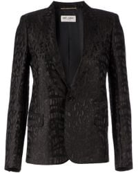 Saint Laurent Animal Pattern Jacket - Lyst