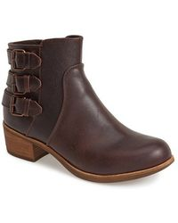 Ugg 'Volta' Leather Ankle Boot brown - Lyst