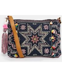 Warehouse - Star Embroidered Clutch - Lyst