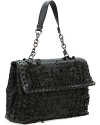 Bottega Veneta Olimpia Tobu Fringe Shoulder Bag Black - Lyst