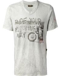 Rude Riders - Vneck Printed T Shirt - Lyst