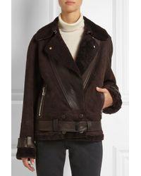 Jason Wu Oversized Leatherpaneled Shearling Biker Jacket - Lyst