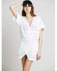 Free People White Barcadera Dress - Lyst