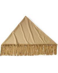 Ralph Lauren Camel-Hair Wrap beige - Lyst