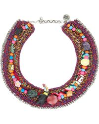 Venessa Arizaga Red Dragonfly Charms Necklace - Lyst