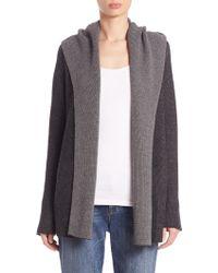 Eileen Fisher | Wool Hooded Cardigan | Lyst