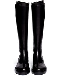 Ann Demeulemeester Top Strap Leather Riding Boots - Lyst