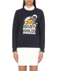Chocoolate - Milo Face Cotton-jersey Sweatshirt - Lyst