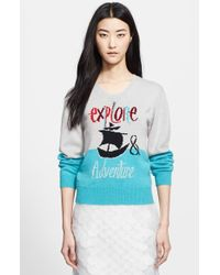 Burberry Prorsum 'Explore & Adventure' Intarsia Sweater - Lyst