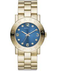 Marc By Marc Jacobs Amy Glitz Goldtone Stainless Steel Bracelet Watch - Lyst