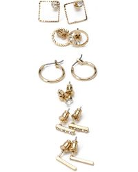 Forever 21 Hoops And Rhinestone Stud Set - Lyst