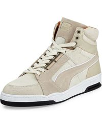 Alexander McQueen x Puma Slipstream Calf-hair High-top Sneaker - Lyst
