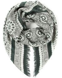 Alexander McQueen Embroidered Skull Scarf - Lyst
