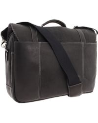 Kenneth Cole Reaction Columbian Leather Flapover Portfoliocomputer Case - Lyst