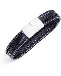 Jan Leslie - Braided Vegetable-Dyed Flat Leather Bracelet - Lyst