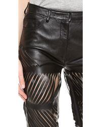 Acne Studios Destroyed Leather Pants Black - Lyst