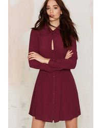 Nasty Gal | Keyhole In One Button Up Dress | Lyst