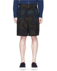 Kolor | Camouflage Print Cotton Shorts | Lyst