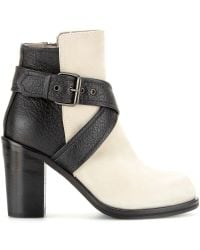 McQ by Alexander McQueen Nazrul Leather and Suede Ankle Boots - Lyst