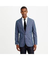 J.Crew Ludlow Sportcoat In Printed Floral Chambray - Lyst