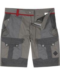 Moncler - Panelled Cotton Shorts - Lyst