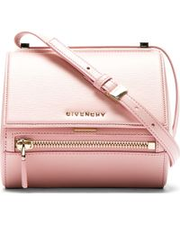 Givenchy Pink Leather Palma Pandora Box Mini Bag - Lyst