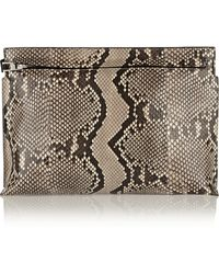Loewe Large Python Pouch - Lyst