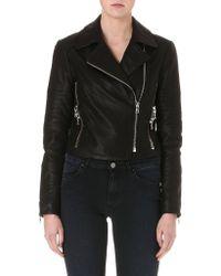 J Brand Aiah Leather Biker Jacket - For Women - Lyst
