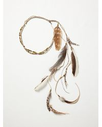 Free People Feather Back Halo - Lyst