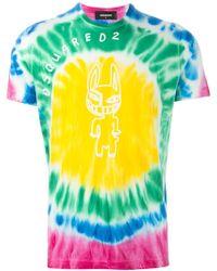 DSquared² Tie-Dye T-Shirt - Lyst