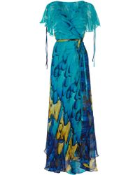 Almost Famous Painted Feather Maxi - Lyst