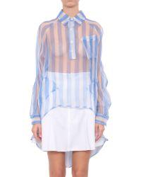 KTZ Striped Tail Silk Shirt - Lyst