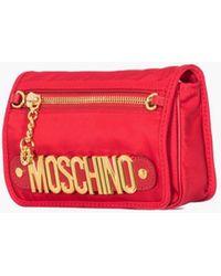 Moschino Red Nylon Pochette With Shoulder Strap gold - Lyst