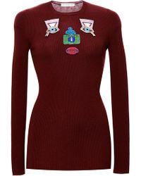 Mary Katrantzou Embroidered Wool Sweater - Lyst