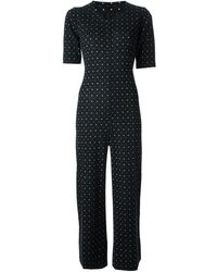 Yves Saint Laurent Vintage Polka Dot Playsuit - Lyst