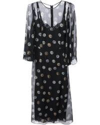 Dolce & Gabbana Ancient Coin Print Dress black - Lyst