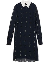 Erdem Kendal Collar Dress - Lyst