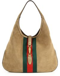 Gucci | Jackie Soft Large Suede Hobo | Lyst