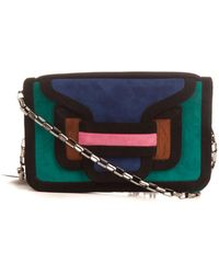 Pierre Hardy Suede Colourblock Clutch - Lyst