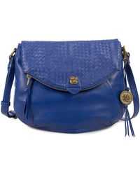 Elliott Lucca - Intreccio Leather Flap Zip Crossbody Bag - Lyst