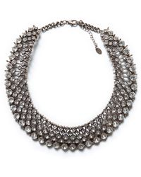Zara Sparkly Crystal Bead Necklace - Lyst