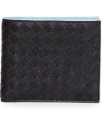 Bottega Veneta Contrast-interior Woven Lambskin Wallet - Lyst