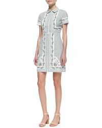 Tory Burch Talia Floralprint Pointcollar Shirtdress - Lyst