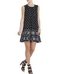 BCBGMAXAZRIA Yulissa Sleeveless Ruffle Dress - Lyst