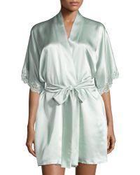 Christine - Bijoux Lace-trim Wrap Robe - Lyst
