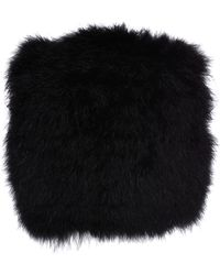 Sonia Rykiel - Black Short Gilet in Marabout Fur - Lyst