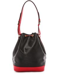 What Goes Around Comes Around Louis Vuitton Epi Noe Bag Blackred - Lyst