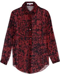 Carven Long Sleeve Shirt - Lyst