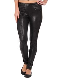 Hue Distressed Blocked Ponte Leggings - Lyst